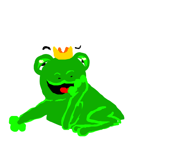 Weird looking frog prince