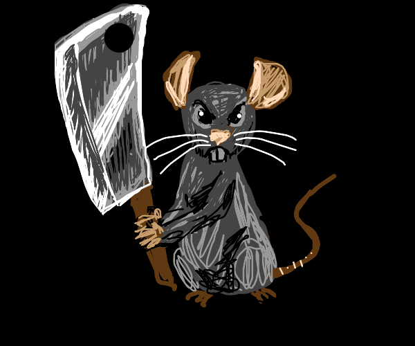 The rat from that one disney movie is angry