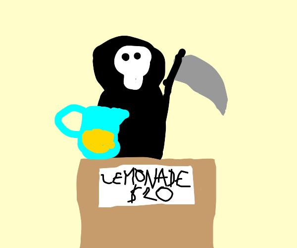 Death selling lemonade