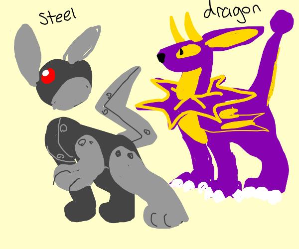 new Eeveelutions (Dragon and Steel types)
