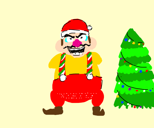 Wario is finally ready for Christmas