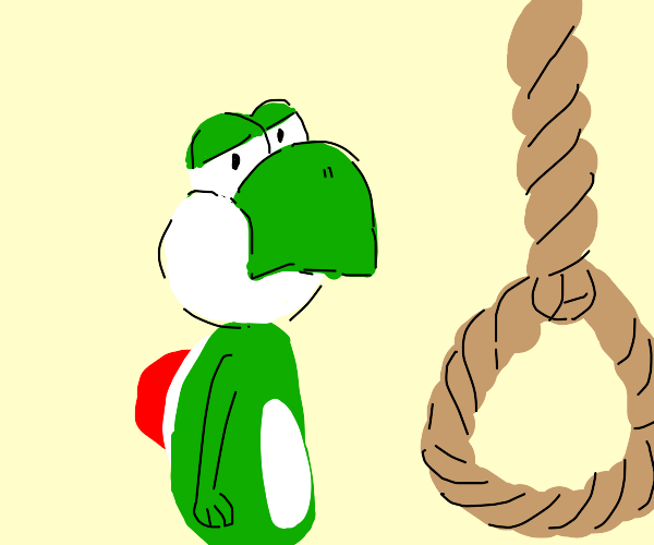 yoshi is about to end it all