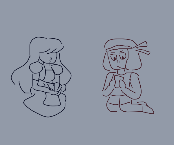 Ruby and sapphire playing go fish