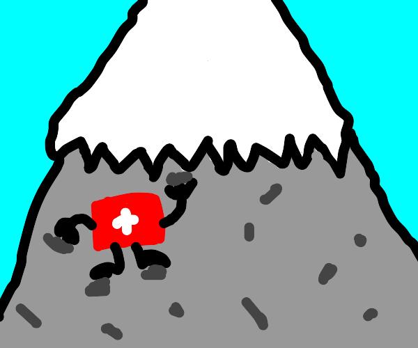 Switzerland thingy goes up mountain