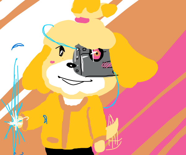 Isabelle from Animal Crossing is a cyborg now