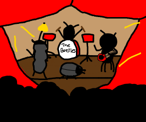 The Beatles but they are actual beetles