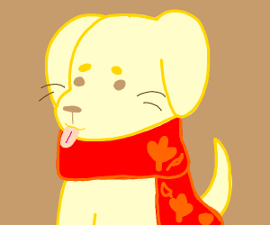 Golden Lab(dog) with a Scarf