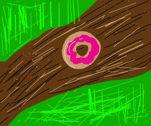 Donut in a chocolate stream