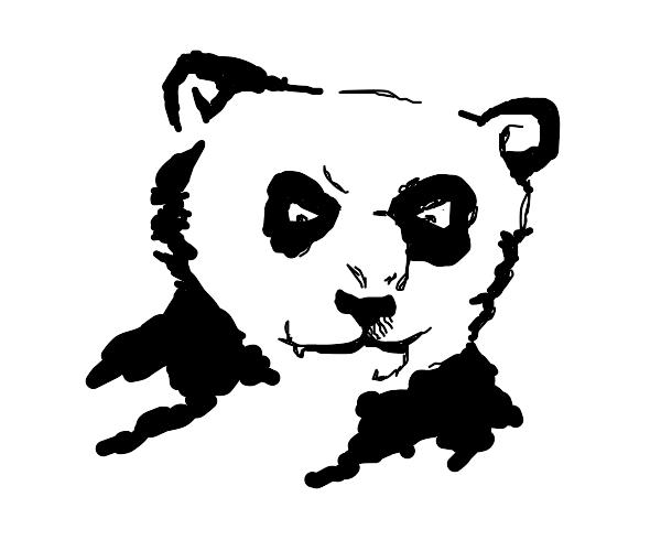 Menacing Panda Bear