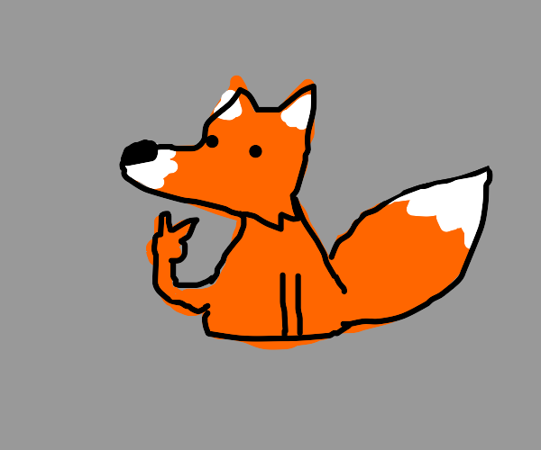 Fox winks and holds peace sign