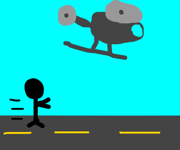 Chasing a helicopter
