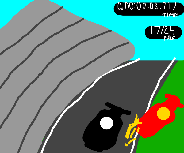 Ramming someone off the road in a racing game