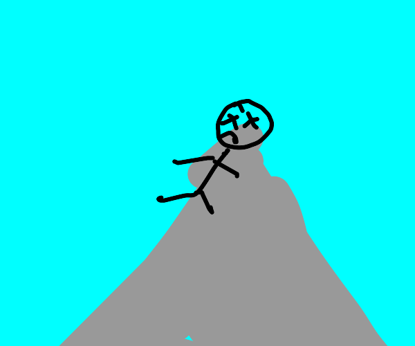 Man died top of the mountain