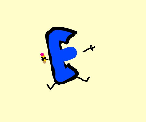 drawception logo has plastic sugrery to be E
