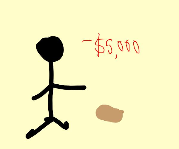 Guy losing money
