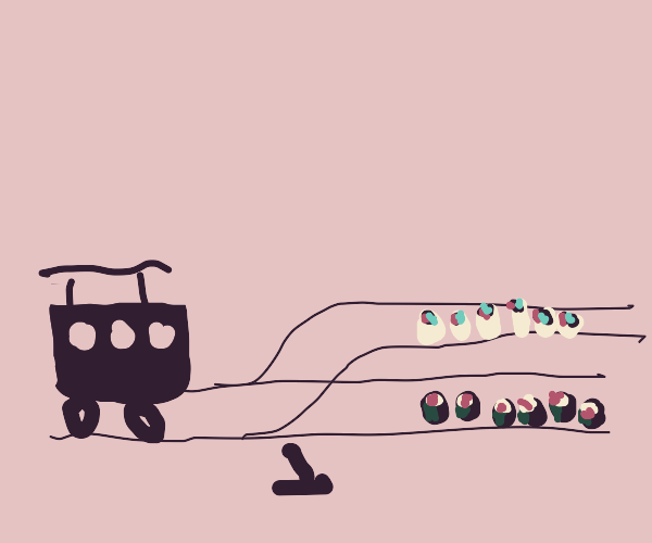 trolley problem with sushi choice