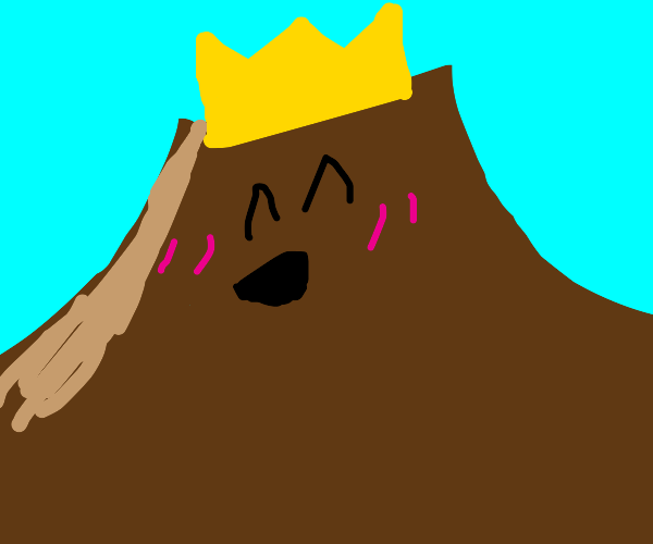 King volcano is blushing
