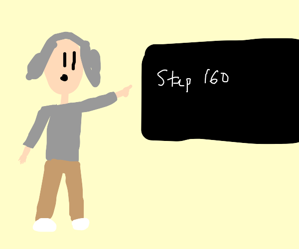 professor points to step 160
