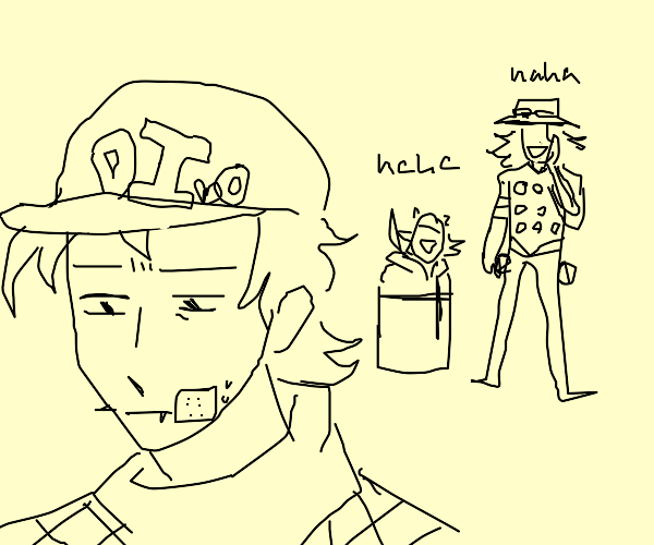 johnny and gyro laughing at diego