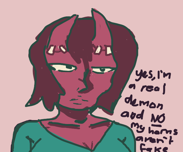 """Some edgy """"demon girl"""""""