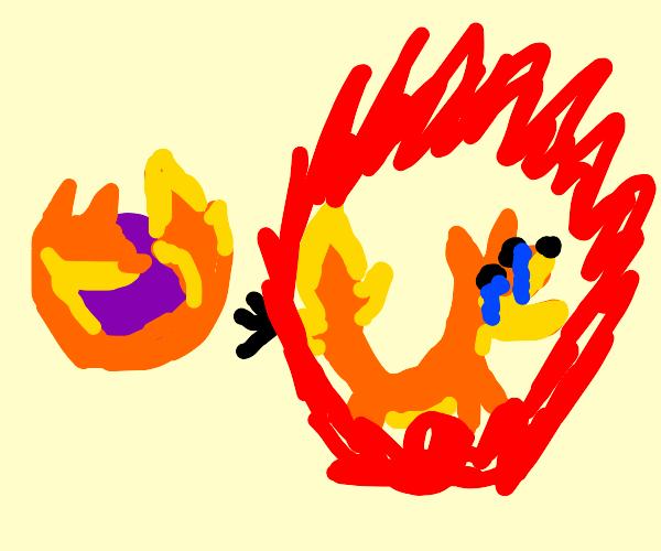 """firefox"" AKA oh no the fox is on fire!!!"