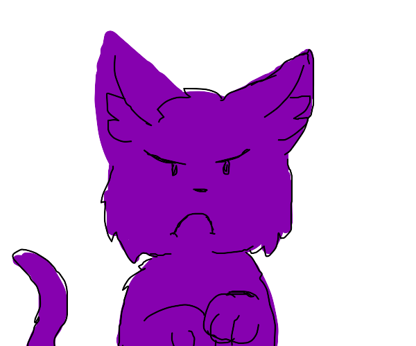 Purple grumpy cat