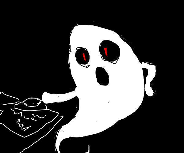 Ghost playing Ouija