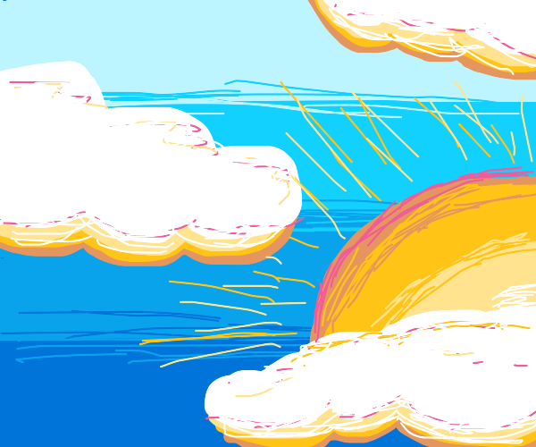 coulerful clouds