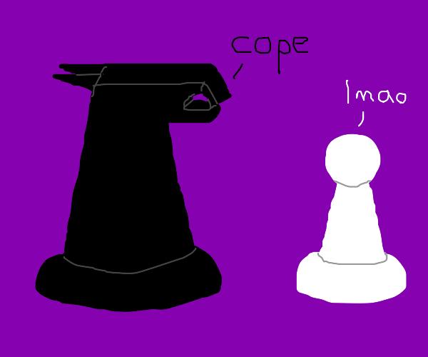 Chess pieces conversing