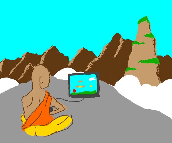 Monk plays Mario