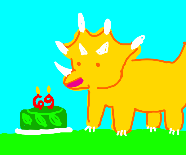 triceratops turns 69 years old