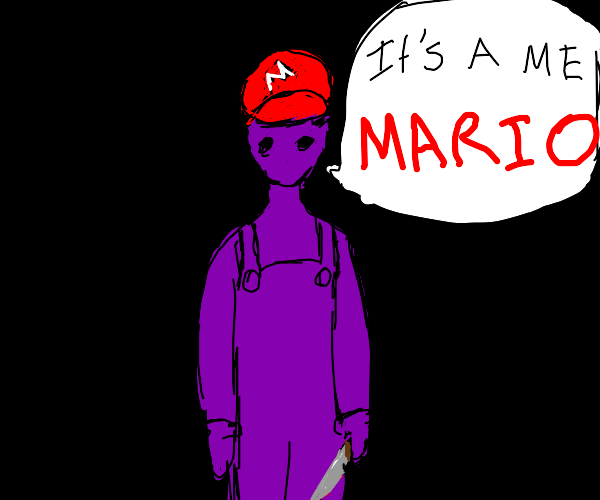 Purple guy with a knife Impersonating Mario