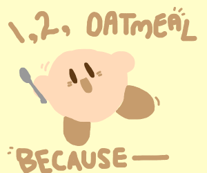 kirby is a pink guy (continue song)