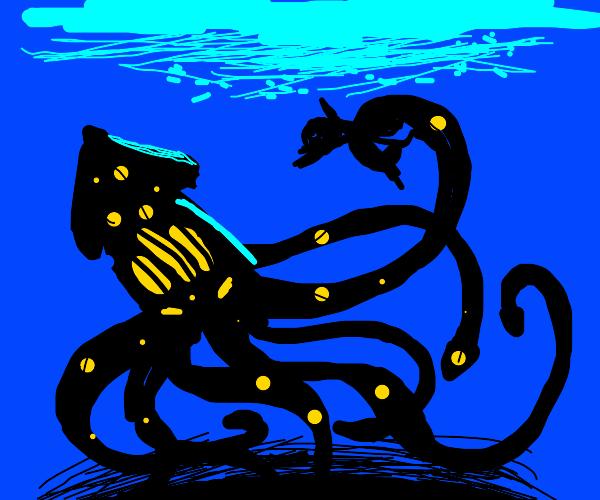 squid captures person