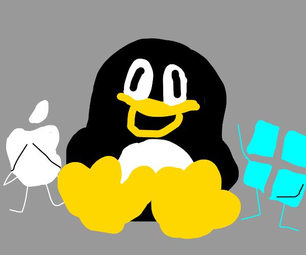 Oh no The linux penguin got fat
