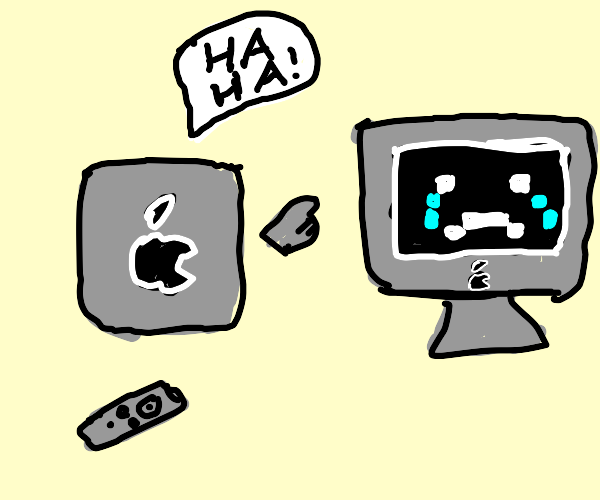 apple tv makes fun of mac