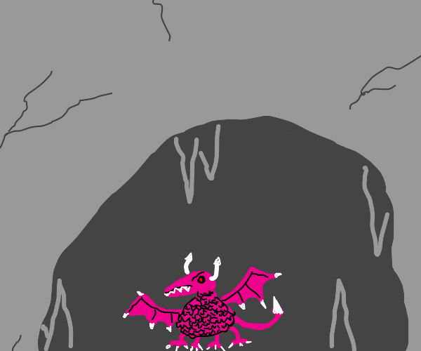 An evil, pink, small dragon!