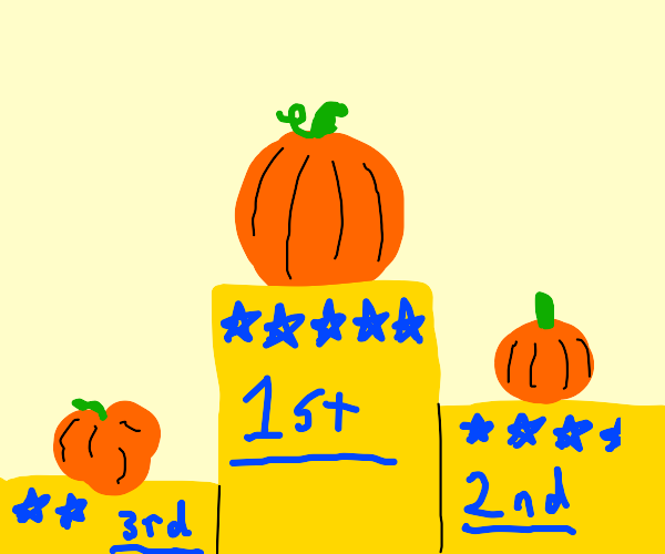 Pumpkin contest with rating stars