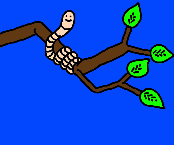 Worm in a tree
