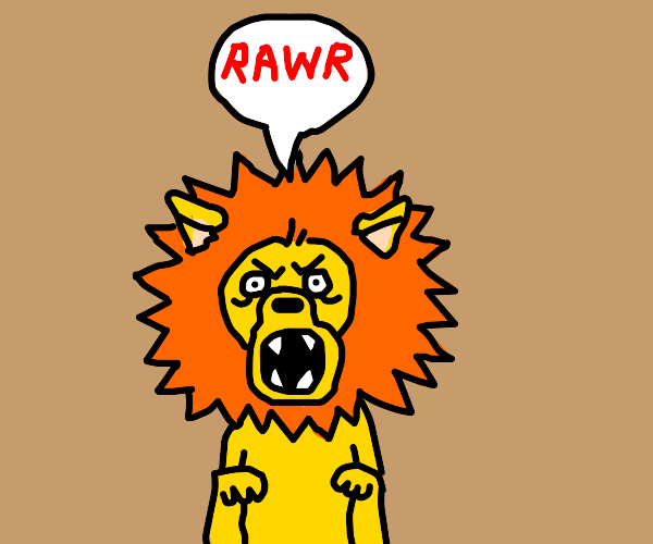 Lion gives a MIGHTY ROAR!