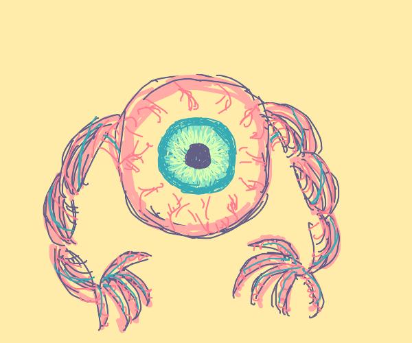 Eyeball with twisty hands