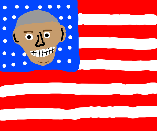 American Flag with Obama's face on it