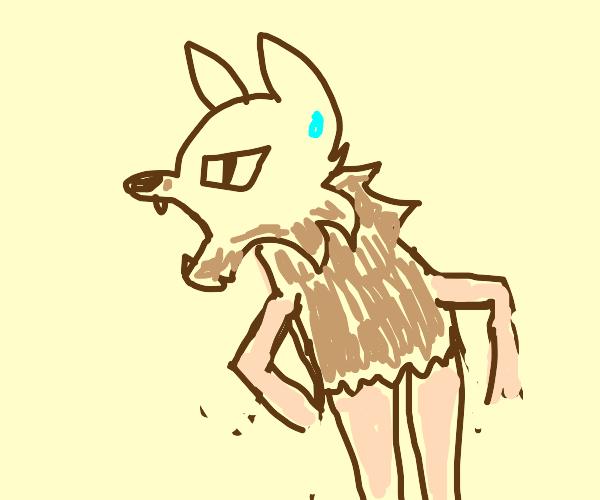 A half-werewolf