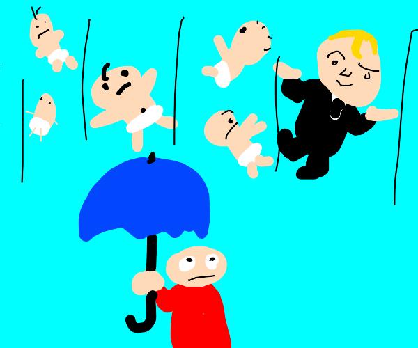 It's raining babies!