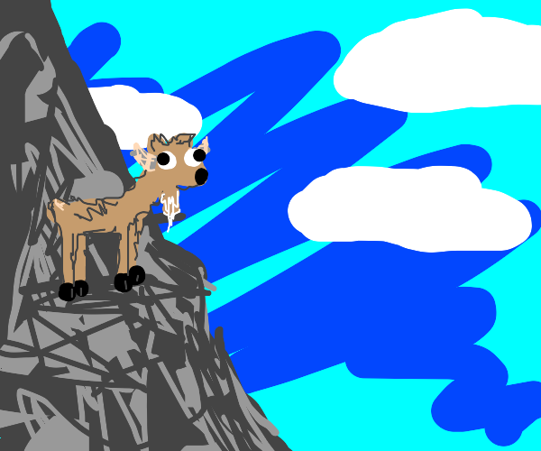 goat on a moutain