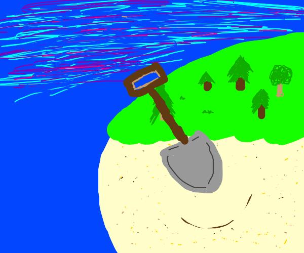 Shovel in new land