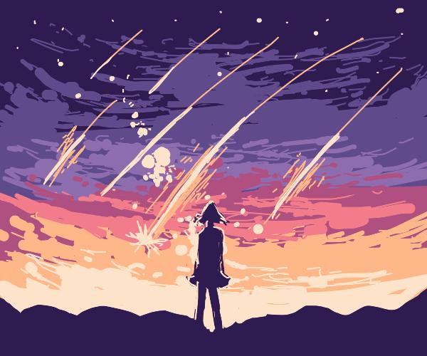 Night sky but the bigger stars fell down