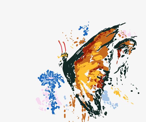The KING of Butterflies has a flower