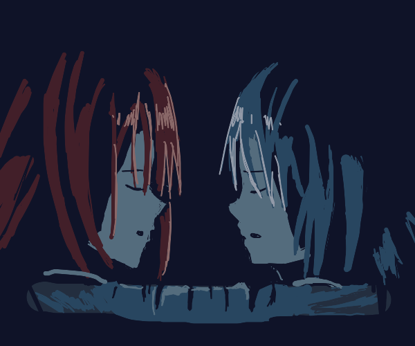 two girls in a sleeping bag