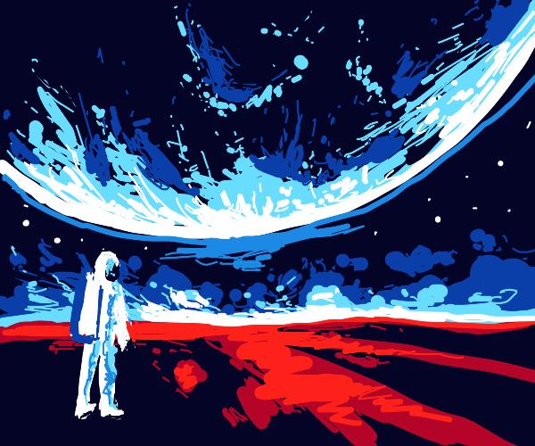 Man on Mars loves the sky